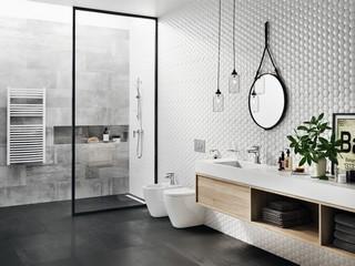 Łazienka w skandynowskim stylu z Ferro.
