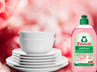 Malinowy koncentrat do mycia naczyń Frosch.
