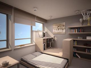 Funkcjonalne małe apartamenty.