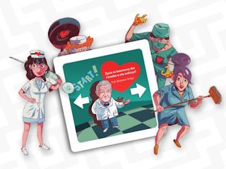 CardioAlarm! - na ratunek sztucznemu sercu, gra karciana o szalonym pościgu po szpitalu.