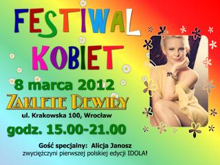 FESTIWAL KOBIET we Wrocławiu z portalem dlaLejdis.