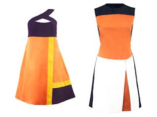 Geometryczne sukienki od Averly London.