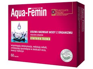 Aqua-Femin na zatrzymywanie wody w organizmie.
