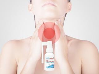 Pielęgnacja gardła podczas infekcji z Lacto angin.