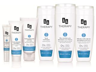 Podstawowa pielęgnacja, oczyszczanie i tonizacja cery suchej, wrażliwej i alergicznej AA Therapy.