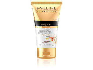 Waniliowy Krem - Maska do rąk i paznokci ARGAN GOLD EDITION Eveline Cosmetics.