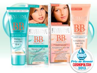 Nagroda dla Eveline Cosmetics w plebiscycie Cosmopolitan PRIX DE BEAUTÉ 2013 za kremy BB.