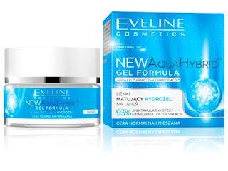 Lekki Matujący Hydrożel na dzień NEW AquaHybridTM GEL FORMUŁA Eveline Cosmetics.