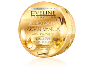 Luksusowe masło do ciała ARGAN&VANILLA Eveline Cosmetics.