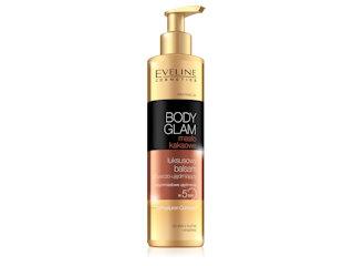 Luksusowy balsam odżywczo-ujędrniający BODY GLAM masło kakaowe Eveline Cosmetics.