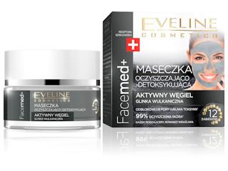 Maseczka Oczyszczająco-Detoksykująca z linii Facemed+ Eveline Cosmetics.