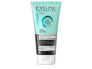 Oczyszczająca pasta do mycia twarzy z aktywnym węglem 3 w 1 z linii Facemed+ Eveline Cosmetics.