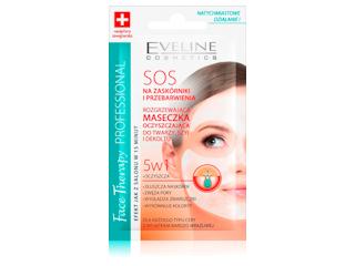 SOS ROZGRZEWAJĄCA MASECZKA OCZYSZCZAJĄCA DO TWARZY, SZYI I DEKOLTU 5w1 Eveline Cosmetics.