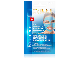 Ultra naprawcza maseczka na dobranoc stres i smog z serii FaceMED+ Eveline Cosmetics.