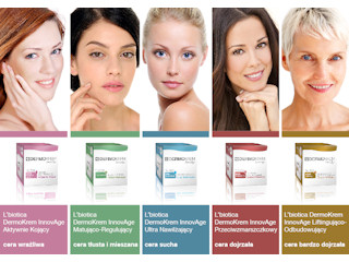 5 kobiet, 5 kremów, 5 sposobów na zdrowie i piękno Twojej cery DermoKremy InnovAge.