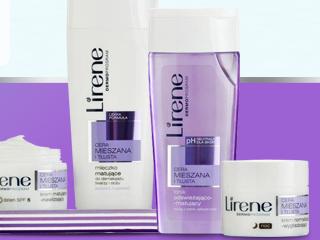 Laboratorium Naukowe Lirene o… pielęgnacji skóry mieszanej i trądzikowej.