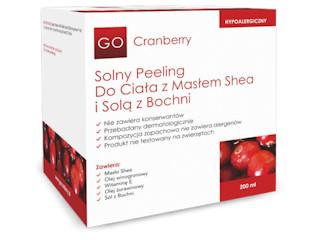 GoCranberry – Solny peeling do ciała z masłem shea i solą z Bochni – NOVA Kosmetyki.