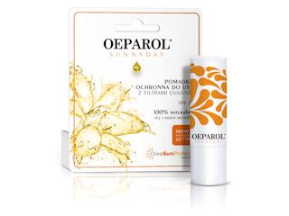 Pomadka ochronna do ust Oeparol® SUNNYDAY na słoneczne dni.