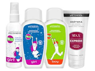 Seria WAX do włosów dla chłopaków i dziewczyn.