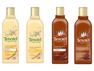 Nowe szampony i odżywki Timotei Głęboki Brąz i Timotei Złociste Refleksy.
