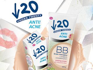 Delikatny makijaż dla każdej nastolatki z matującym kremem BB o działaniu antybakteryjnym UNDER 20.