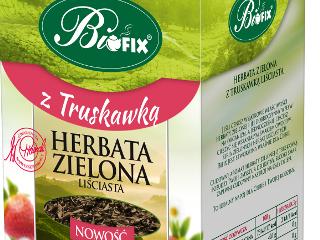 Herbata zielona Bifix z truskawką.