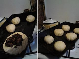 Przepis na bułki z grzybami.