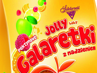 Galaretki owocowe Jolly Baby.