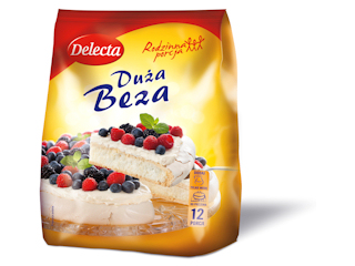 Duża Beza Delecta – pierwsza na rynku beza do samodzielnego wypieku.
