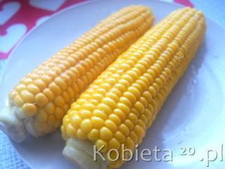 Przepis na gotowaną kukurydzę.