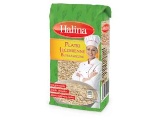 Płatki Jęczmienne Błyskawiczne marki Halina na szybkie i pożywne śniadanie.