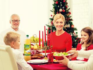 Święta rodzinne z napojem Hellena.
