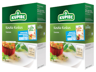 Szybka do przygotowania – w 5 minut - Kaszka Kuskus firmy Kupiec teraz w promocyjnym opakowaniu!