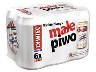 Nowe opakowanie piwa Jasne Pełne – puszka o objętości 330 ml.