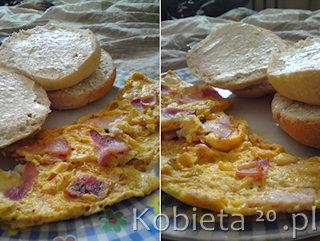 Przepis na mięsny omlet.