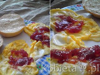 Przepis na omlet na słodko.