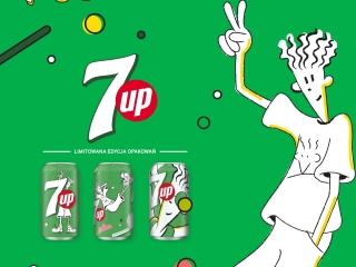 Nowa kampania reklamowa 7UP - napoju o smaku limonkowo-cytrynowym.
