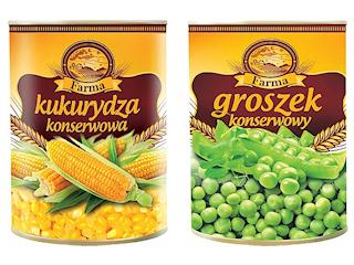 Zielony groszek konserwowy Farma.
