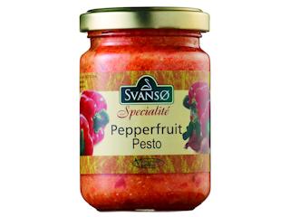 Pesto z czerwonej papryki marki Svanso.