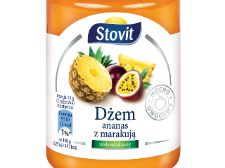 Dżem z ananasa z marakują Stovit.