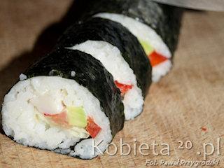 Zdrowa japońska przekąska - sushi.