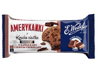 Czekoladowe ciasteczka Amerykanki od E. Wedel.